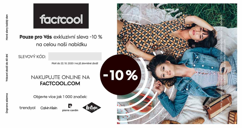 Slevový kupón factcool.com