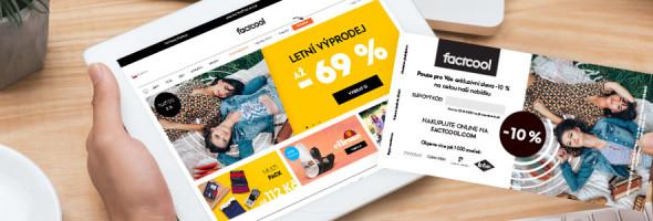 Akviziční kampaň factcool.com v síti BALÍK PLUS